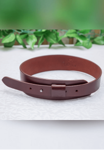 Brown Single Stud Waist Belt