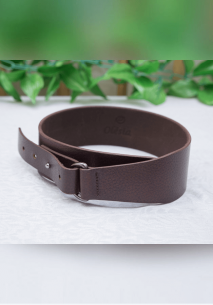 Dark Brown Single Stud Waist Belt