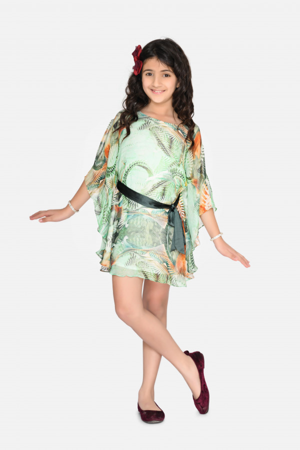 Aqua Green Kaftan Dress