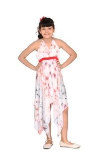 Handkerchief Hem Halter Dress