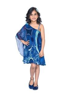 Blue Swing Kaftan Dress