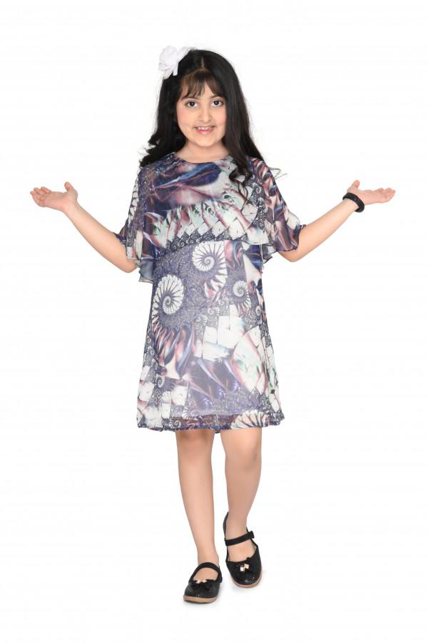 Mauve Cape Overlay Dress
