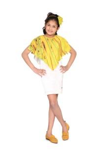 White Cape Sheath Dress