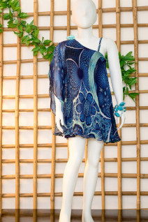 Blue Swing Kaftan Dress