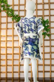 Geometric Print Kaftan Dress