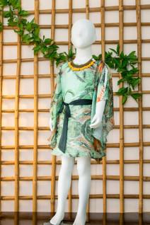 Aqua Green Kaftan Dress
