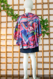 Asymmetrical Cape Dress