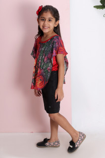 Kaftan Top with Black Skirt