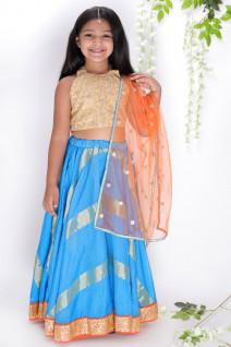 Blue Kota Silk Lehenga