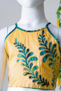Applique Work Silk Lehenga