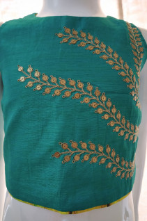 Green Crop Top with Dhoti Pants