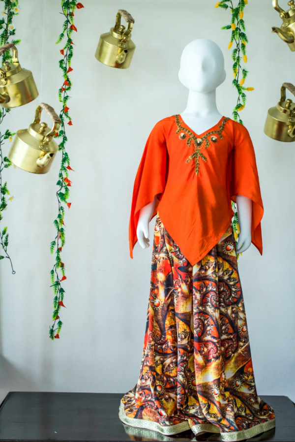 Poncho Style Lehenga