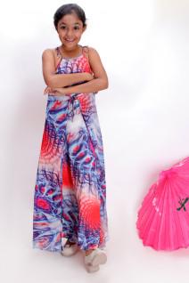 Shoulder Tie Floor Length Dress