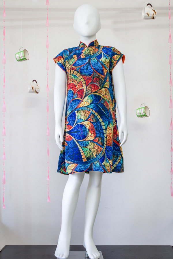 Chinese  Mandarin Collar Dress