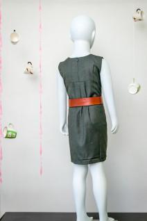 Sap Green Box Pleated Dress