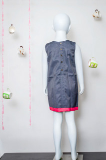 Grey Colour Block Dress
