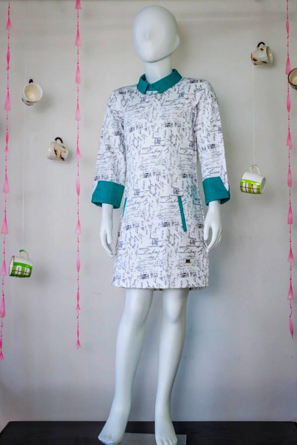Calligraphy Print Dress