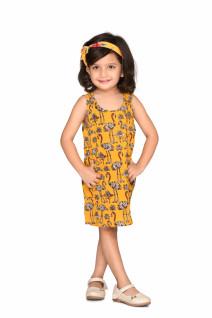 Yellow Flamingo Printed Dress
