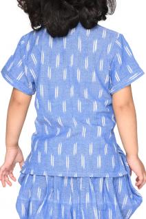 Blue Ikat Cotton Dhoti Set