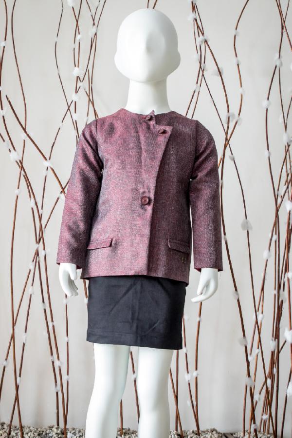 Maroon Hip-Length Coat