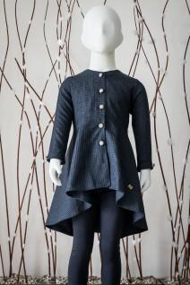 Asymmetrical Frock-Style Overcoat
