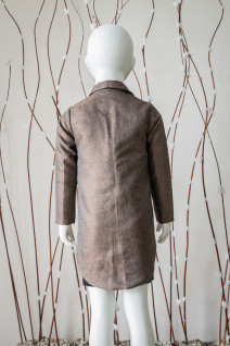 Brown Notched Collar Coat