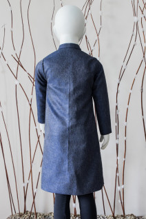 Blue Long Overcoat