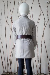 Grey Over-Sized Lapel Overcoat